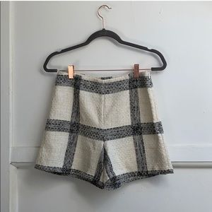Zara high waisted Tweed Shorts